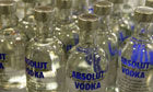 Absolut vodka bottles