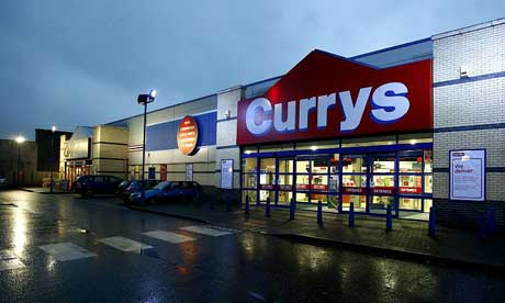 Currys, PC World and B&Q today became the latest high street names to
