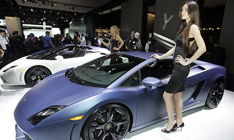 Lamborghini at the Detroit motor show