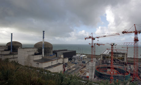 Nuclear plant Flamanville in France made by Areva SA