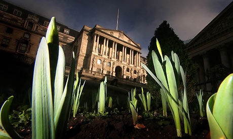 Green shoots in front of the Bank of England