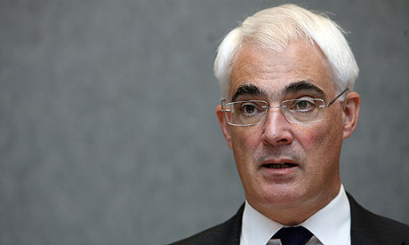 Alistair Darling EU meeting Luxembourg