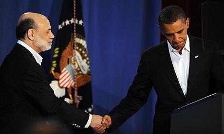 President Barack Obama and Ben Bernanke