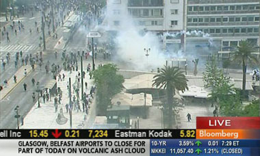 Greek protests: Bloomberg TV