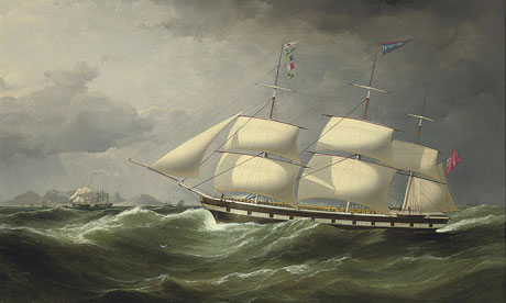 The Ship Frankfield off Table Bay by Samuel Walters, part of the Lehman art auction Christie's.