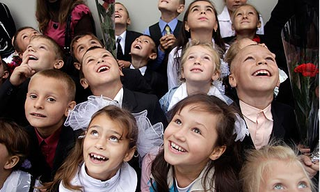schoolchildren in moldova school opening