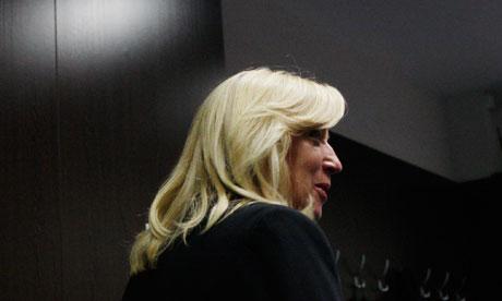 Slovakia's Prime Minister Iveta Radicova