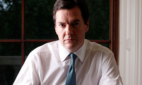 Chancellor of the Exchequer George Osborne pictued in his office at the Treasury