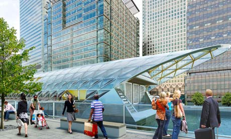Crossrail station, Canary Wharf, artist's impression