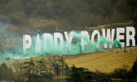 Paddy Power sign at Cheltenham