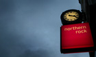 Northern Rock sign outside a branch