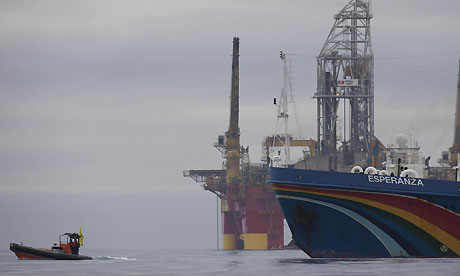 Greenpeace oil rig protest