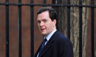 Britain's Chancellor of the Exchequer George Osborne leaves Downing Street in central London