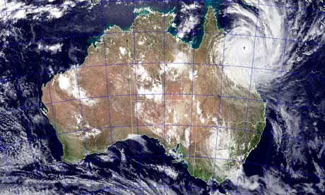 NASA image shows Tropical Cyclone Yasi as it approaches Queensland, Australia