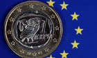 Ein-Euro-Mnze / Eurozone Krise