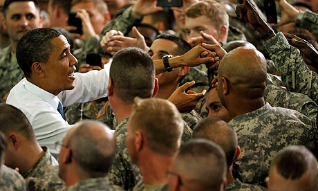 Barack Obama visits Fort Campbell, Kentucky