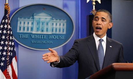 US president Barack Obama makes a statement to the press on US debt ceiling