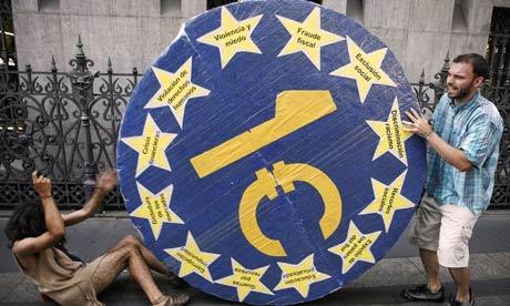 Madrid street protest, 28 July 2011