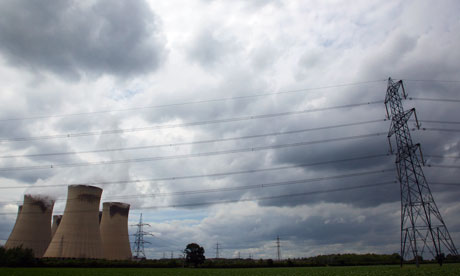 Drax power station in North Yorkshire under a stormy sky