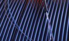 Fiberoptic telephone cables on spool