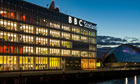 BBC Scotland building at night
