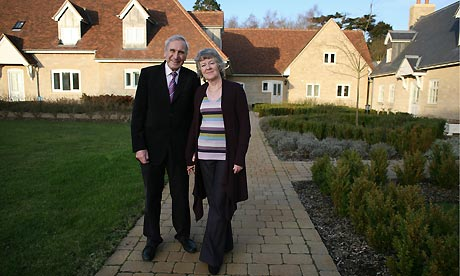 Bob and Anne Sears outside their retirement home