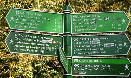 Capital Ring signs