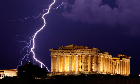Ancient Parthenon temple, Athens, Greece