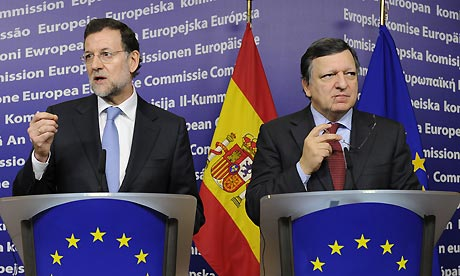 Mariano Rajoy and Jos Manuel Barroso