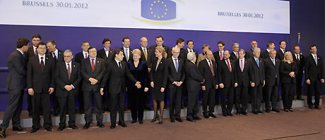 European heads of state at EU summit in Brussels