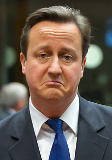 David Cameron at the EU summit