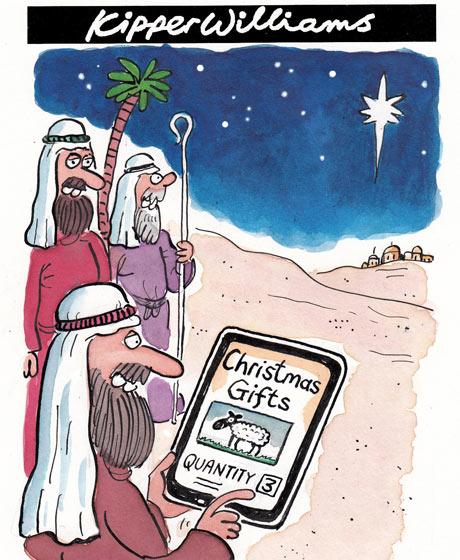 Kipper Williams on Christmas shopping online