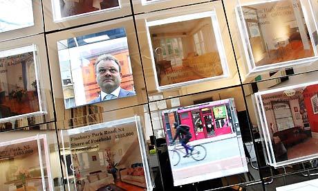 RICS house prices - estate agent window