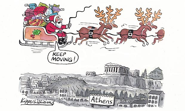 Kipper Williams Christmas card - Athens