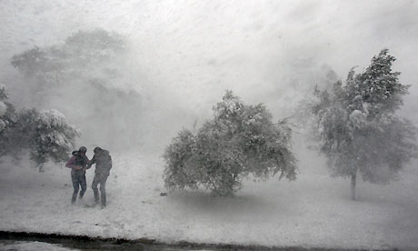 Greece battered by recession, debt and now unseasonal snowstorms