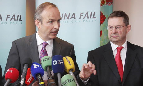 Eamon O Cuiv (left) has resigned over the controversial European fiscal treaty.