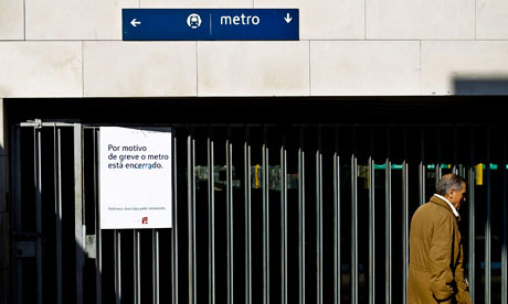 A Lisbon Metro station, during a general strike in Portugal