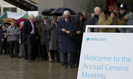 Barclays' annual general meeting