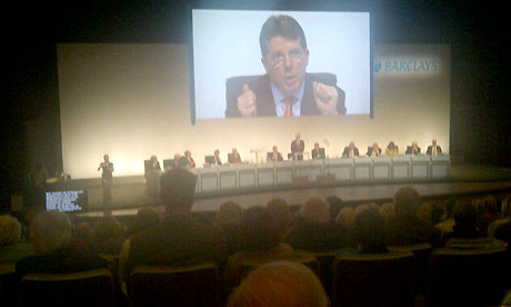 Bob Diamond at the Barclays AGM