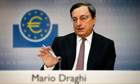 European Central Bank President Mario Draghi attends the monthly news conference in Frankfurt