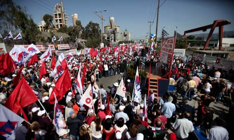 Greek Communist party supporters take part in a May Day protest in Aspropyrgos, outside Athens.