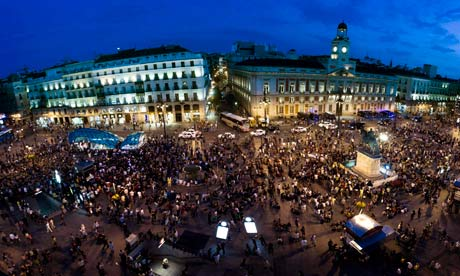 'Indignado' protesters in Puerta del Sol, Madrid, 13 May 2012