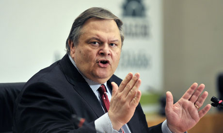Greece's socialist party leader, Evangelos Venizelos.
