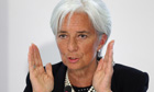 The International Monetary Fund managing director Christine Lagarde during a press briefing