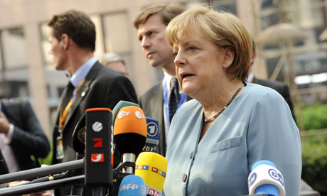 German Chancellor Angela Merkel arrives for a meeting of European Union leaders.