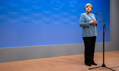 Angela Merkel at EU Summit in Brussels, May 24.
