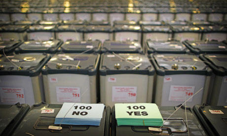 EU Fiscal treaty referendum ballot boxes