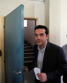 Alexis Tsipras, the leader of Greece's Radical Left Coalition party (SYRIZA).