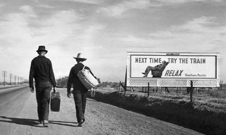 Two Dust Bowl refugees during the Great Depression