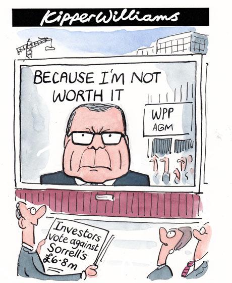 Kipper Williams cartoon: Sir Martin Sorrell's pay voted down